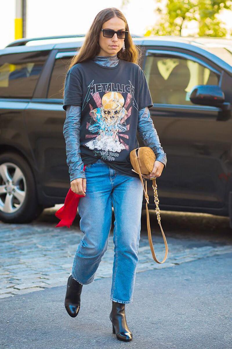 tricou oversized metallica