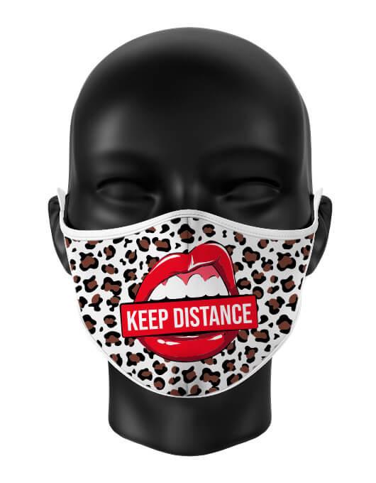 Masca de gura personalizata Keep distance