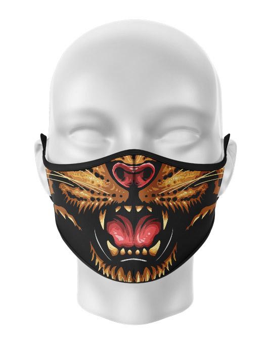 Masca de gura personalizata Angry Cheetah