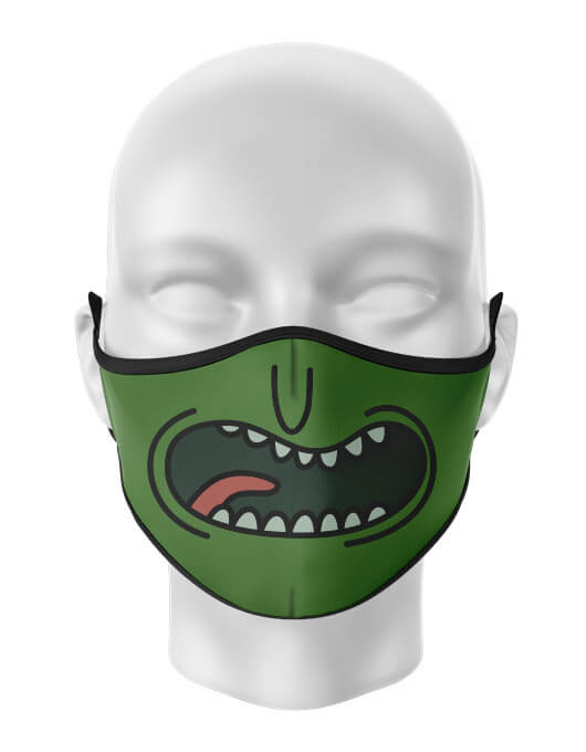 Masca de gura personalizata Pickle Rick