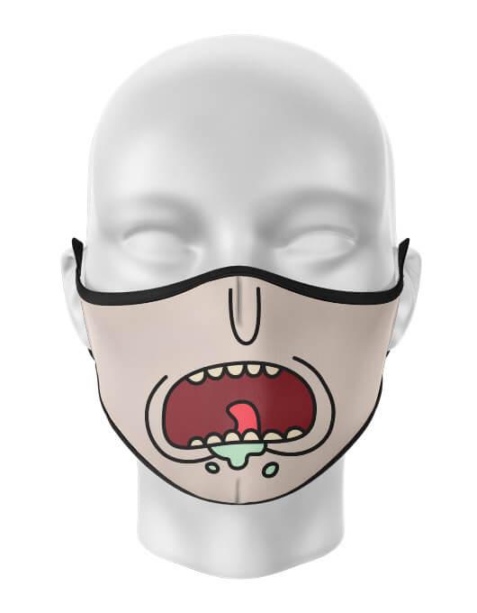 Masca de gura personalizata Ricks anger