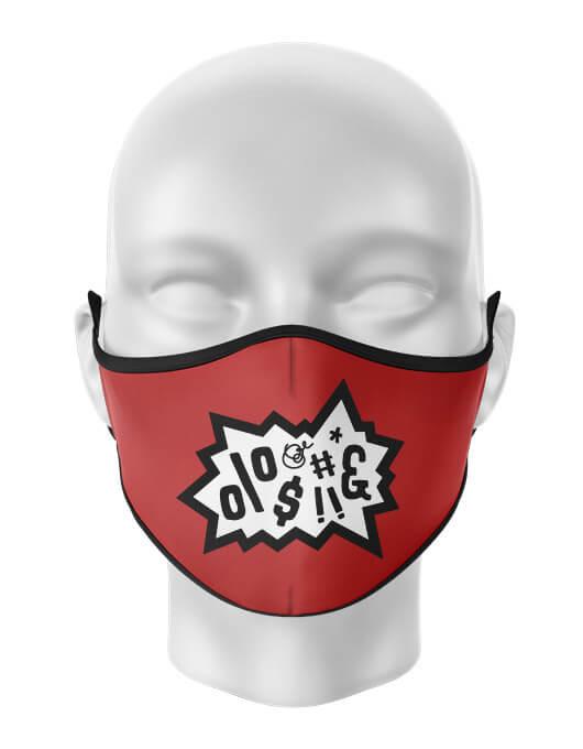 Masca de gura personalizata Anger