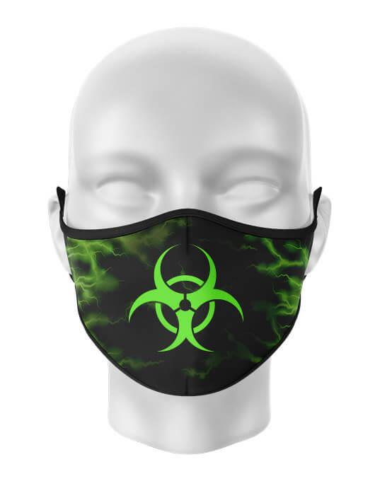 Masca de gura personalizata Biohazard lightning