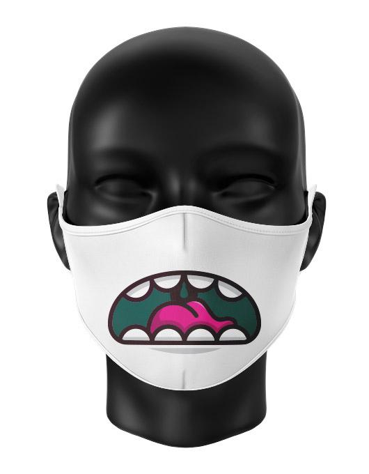 Masca de gura personalizata Grumpy monster