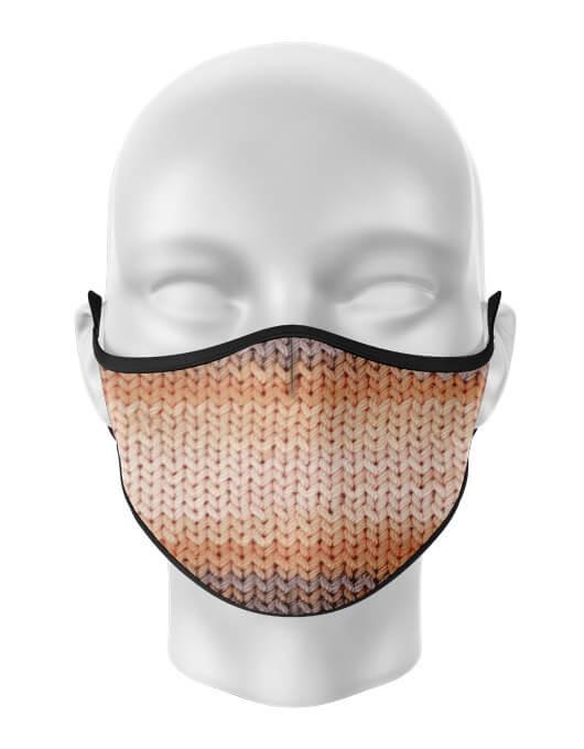 Masca de gura personalizata Knit pattern