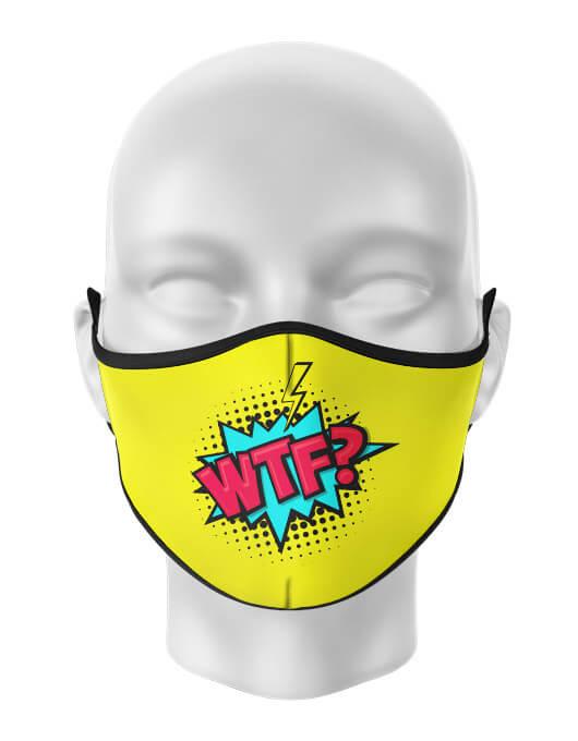 Masca de gura personalizata WTF