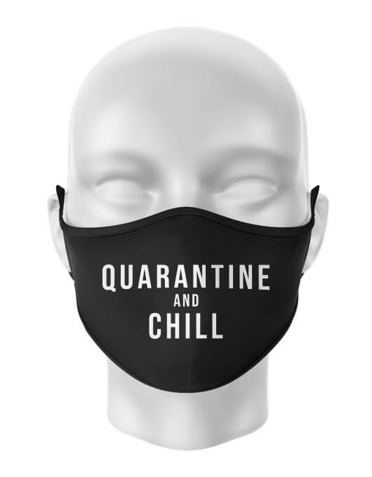 Masca de gura personalizata Quarantine and chill