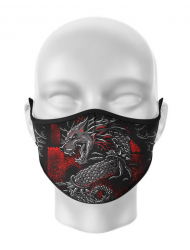Masca de gura personalizata Lupul Dacic