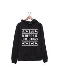 Hanorac personalizat negru unisex Merry Christmas