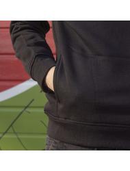Hanorac personalizat negru unisex Coder