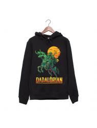 Hanorac personalizat negru unisex Dadalorian