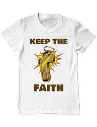 Tricou ADLER barbat Keep the Faith Alb