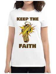 Tricou ADLER dama Keep the Faith Alb