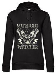 Hoodie dama cu gluga Midnight Watcher Negru