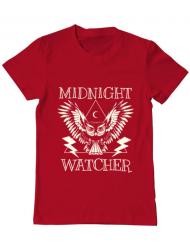 Tricou ADLER barbat Midnight Watcher Rosu