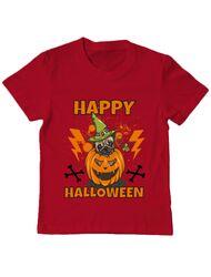 Tricou ADLER copil Halloween Pug Rosu