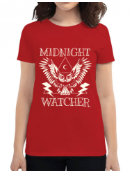 Tricou ADLER dama Midnight Watcher Rosu