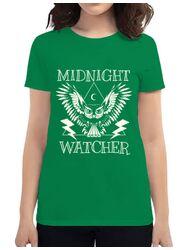 Tricou ADLER dama Midnight Watcher Verde mediu