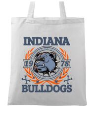 Sacosa din panza Indiana Bulldogs Alb