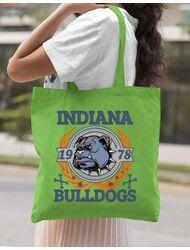 Sacosa din panza Indiana Bulldogs Verde mar