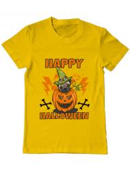 Tricou ADLER barbat Halloween Pug Galben
