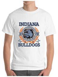 Tricou ADLER barbat Indiana Bulldogs Alb