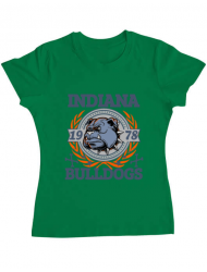 Tricou ADLER dama Indiana Bulldogs Verde mediu