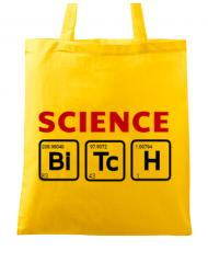 Sacosa din panza Science Bitch Galben