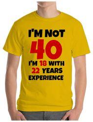 Tricou ADLER barbat 40 ani Birthday galben