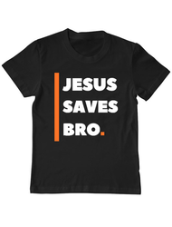 Tricou ADLER copil Jesus Saves Bro Negru
