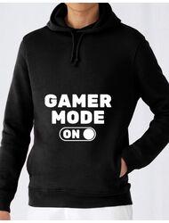 Hoodie barbat cu gluga Gamer mode on Negru