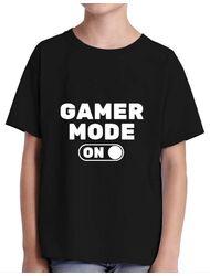 Tricou ADLER copil Gamer mode on Negru
