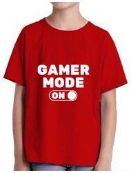 Tricou ADLER copil Gamer mode on Rosu