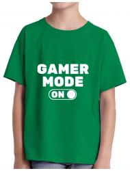 Tricou ADLER copil Gamer mode on Verde mediu