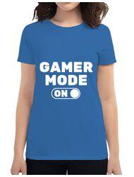 Tricou ADLER dama Gamer mode on Albastru azuriu