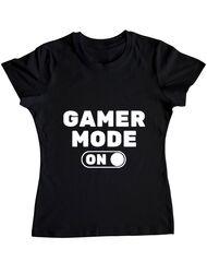 Tricou ADLER dama Gamer mode on Negru