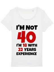 Tricou STANLEY STELLA dama 40 ani Birthday Alb
