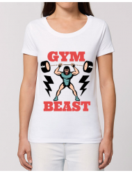 Tricou STANLEY STELLA dama Gym Beast Alb