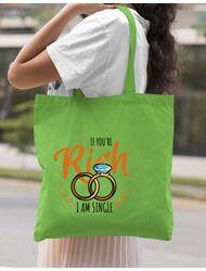 Sacosa personalizata Burlacite If you are rich Verde