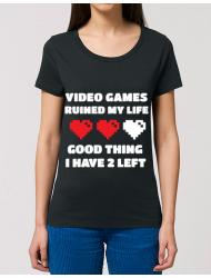 Tricou STANLEY STELLA dama Video games ruined my life Negru