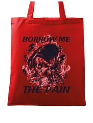Sacosa din panza Borrow me the pain Rosu