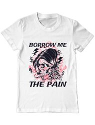 Tricou ADLER barbat Borrow me the pain Alb