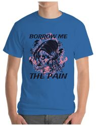 Tricou ADLER barbat Borrow me the pain Albastru azuriu
