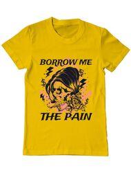 Tricou ADLER barbat Borrow me the pain Galben