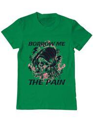 Tricou ADLER barbat Borrow me the pain Verde mediu