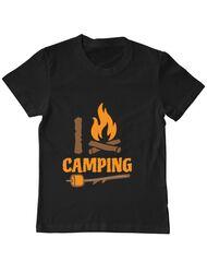 Tricou ADLER copil I love Camping Negru