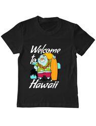 Tricou ADLER copil Welcome to Hawaii Negru