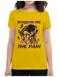 Tricou ADLER dama Borrow me the pain Galben
