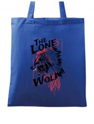 Sacosa din panza The lone wolf Albastru regal