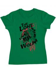 Tricou ADLER dama The lone wolf Verde mediu